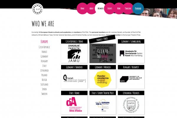 EUTSA Webportal - Screenshot Content