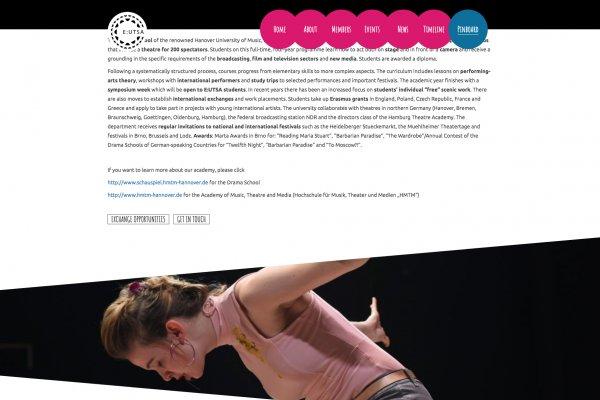 EUTSA Webportal - Screenshot Pinboard