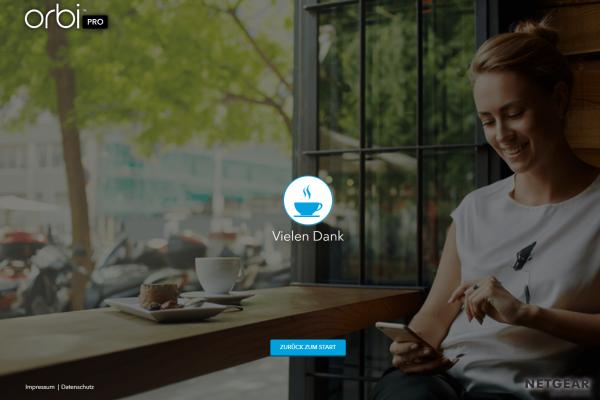 Screenshot Netgear Orbi Pro System Landingpage