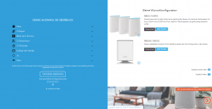 Netgear Website zum Orbi-System - Screenshot Konfigurator