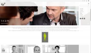 Screenshot Teamseite - Website für ilp² Ingenieure