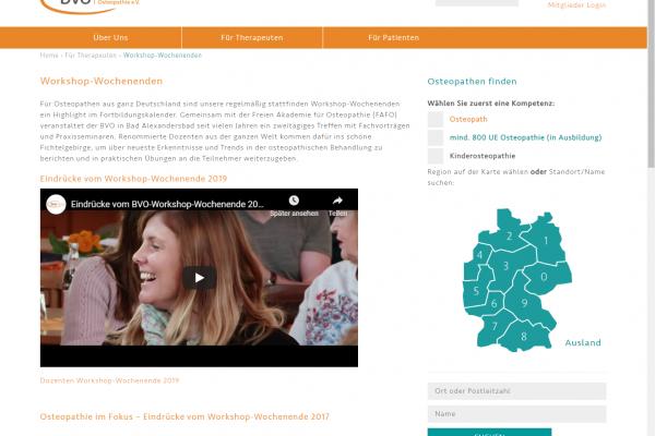 Website BVO - Screenshot Content