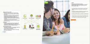 E-Learning Goethe Institut mit Swipe Gesten Steuerung - Screenshot Content
