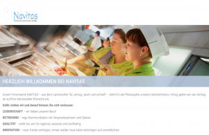 Website Navitas - Screenshot Startseite