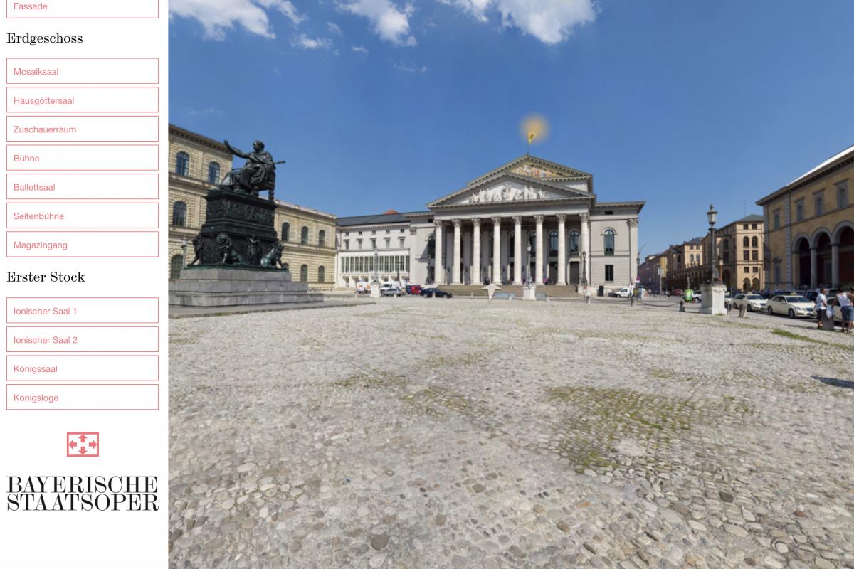 Bayerische Staatsoper App - Beispielbild 360° virtueller Rundgang
