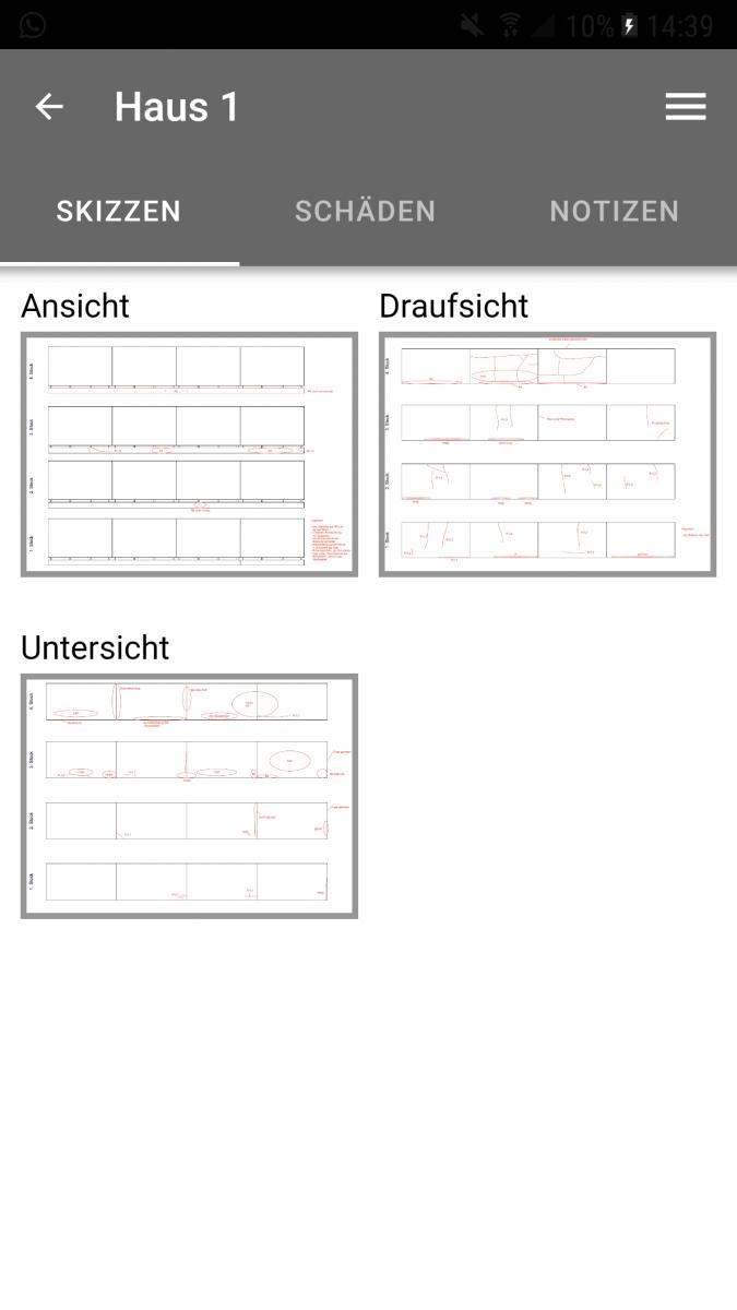 Screenshot monitorING App verschiedene Ansichten