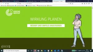 E-Learning Goethe Institut - Screenshot Content