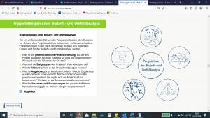 E-Learning Goethe Institut - Screenshot Content und Grafik