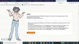 E-Learning Goethe Institut - Screenshot Content und Illustration