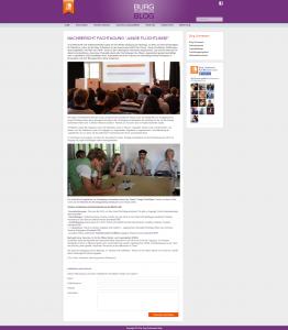 Blog Burg Schwaneck - Screenshot Website