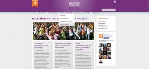Blog Burg Schwaneck - Screenshot Website Menü