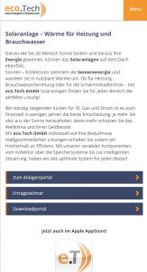 eco.Tech Website - Screenshot App