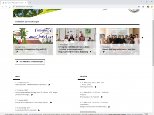 Website Gymnasium Alexandrinum Coburg - Screenshot News
