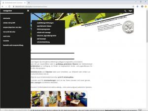 Website Gymnasium Alexandrinum Coburg - Screenshot Navigation