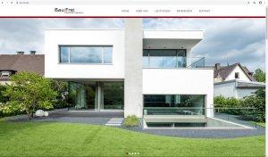 Screenshot Website Bau|Frei Startseite