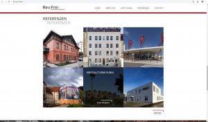 Screenshot Website Bau|Frei Inhalt