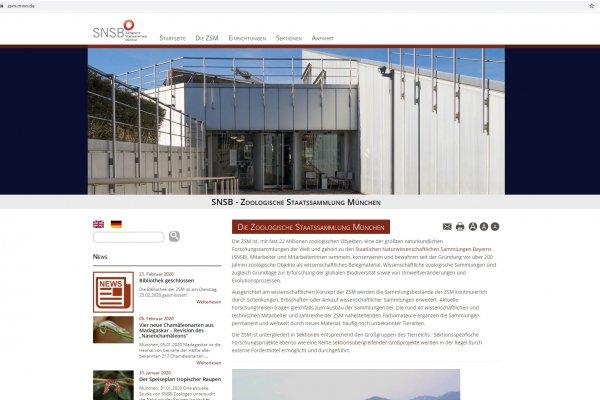 Website ZSM - Screenshot Anfahrt