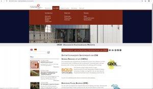 Website ZSM - Screenshot Menü u. Contentseite