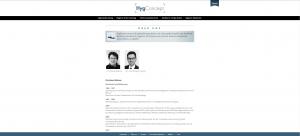 Website HygConcept - Screenshot über uns