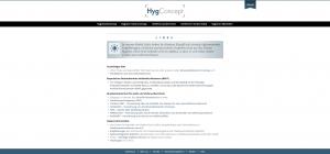 Website HygConcept - Screenshot Links