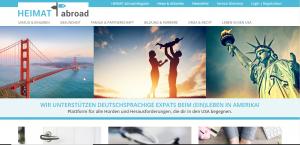 Website Heimatabroad - Screenshot Startseite