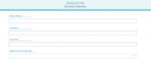 Website Heimatabroad - Screenshot Newsletteranmeldung
