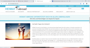 Website Heimatabroad - Screenshot Content