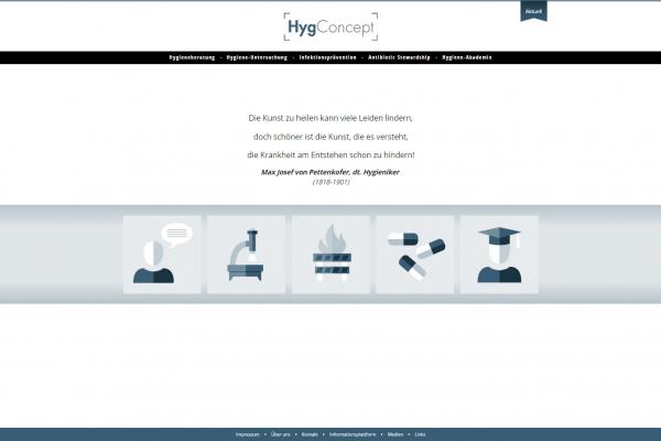 Website HygConcept - Screenshot Startseite