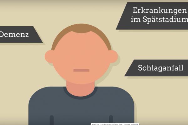 Screenshot Erklärvideo für Seniorbook - Grafik