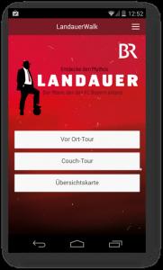 Screenshot - App für Landauer Walk - Startseite