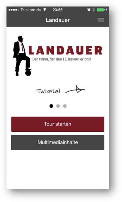 Screenshot - App für Landauer Walk - Tutorial