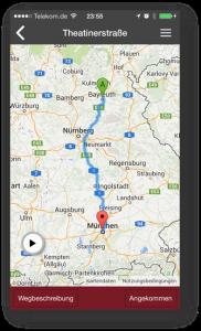 Screenshot - App für Landauer Walk - Kartenansicht