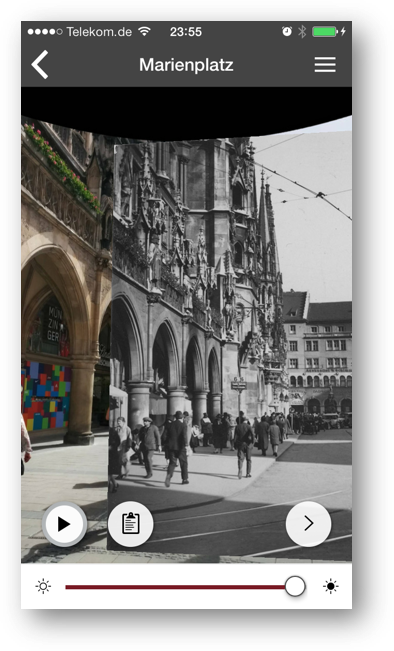 Screenshot - App für Landauer Walk - Videoplayer