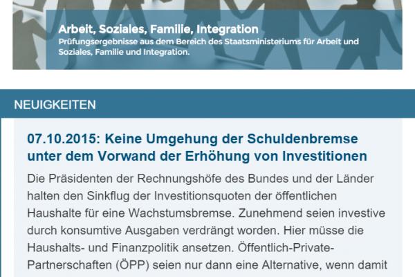 Website ORH - Screenshot News