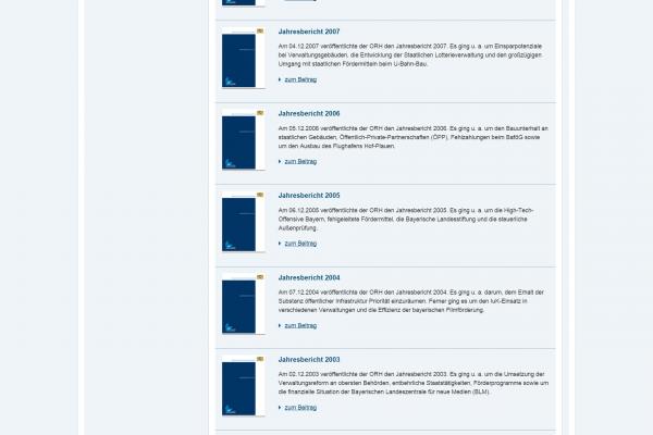 Website ORH - Screenshot