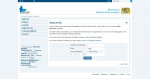Website ORH - Screenshot Newsletteranmeldung