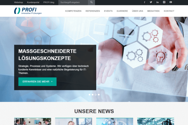 PROFI AG Website