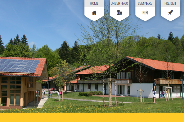 Website für Ferien- und Bildungszentrum Siegsdorf