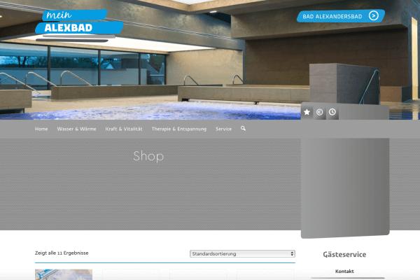 Der neue Shop von Bad Alexandersbad geht online